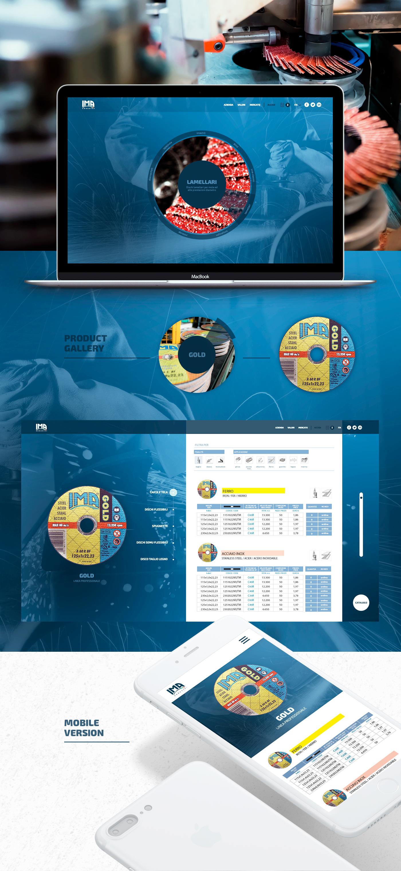 IMA Abrasivi | Web development